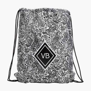 Vera Bradley Eden Paisley BLK Drawstring Backpack